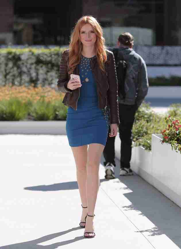 bella thorne in mini dress walking to a studio-in-los-angeles-february-2015_2